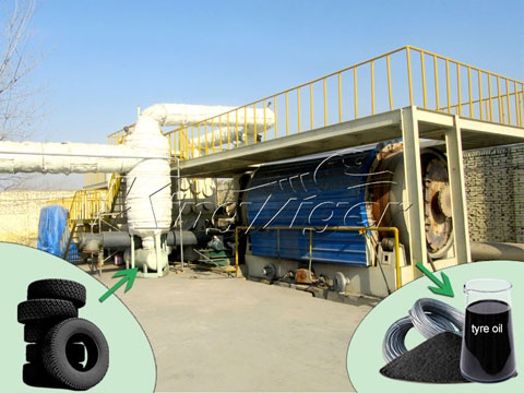 tyre to oil plant